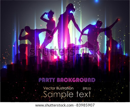 Party Background. Vector Illustration. EPS10. - stock vector