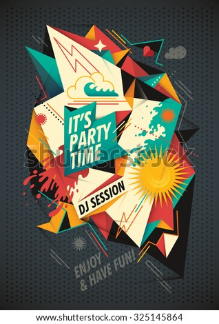 Party background with abstract composition. Vector illustration. - stock vector