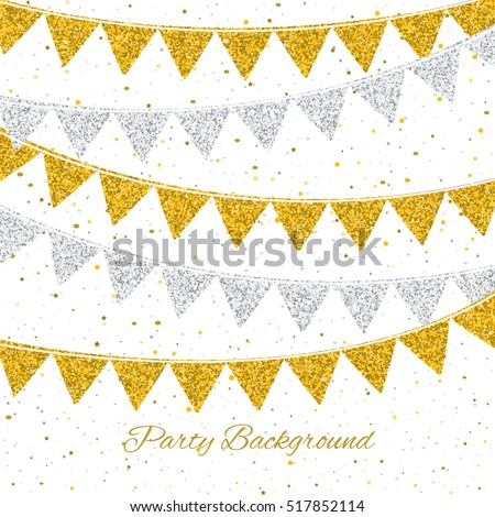Party background with flags. Can be used as Birthday banner, Wedding background, glamour party flyer etc