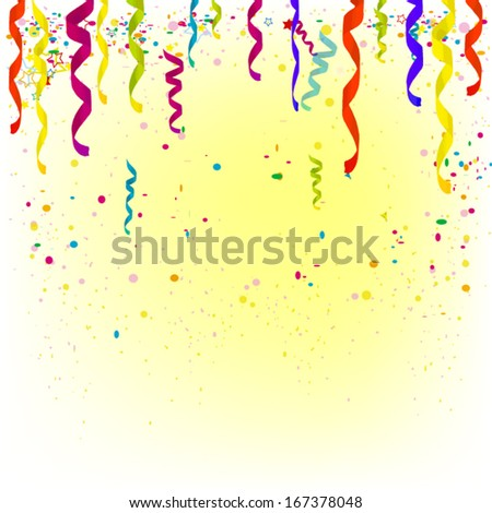 Party background with place for text. Vector