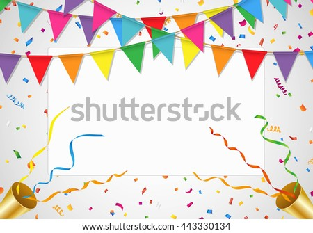 Party background with white board - stock vector