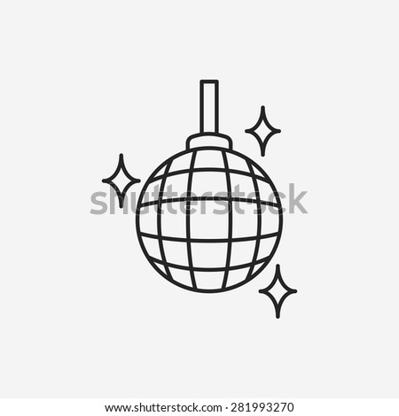 party ball line icon