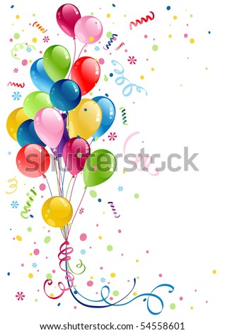 party balloons with space for text - stock vector