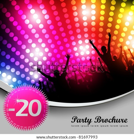 Party Brochure Template - EPS10 Vector Design - stock vector