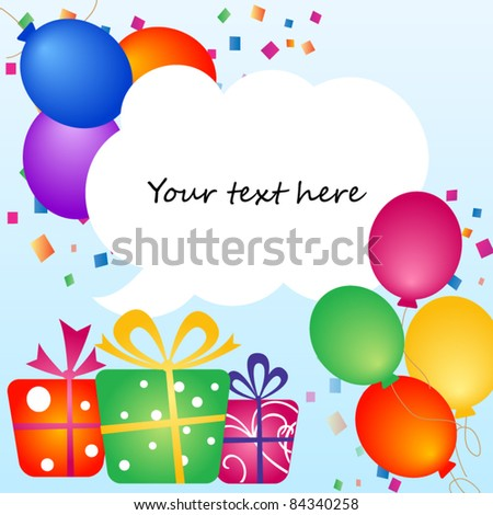 Party colorful balloons with place for your text - stock vector