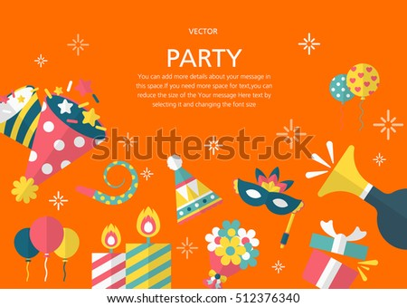 Party concept in flat design style