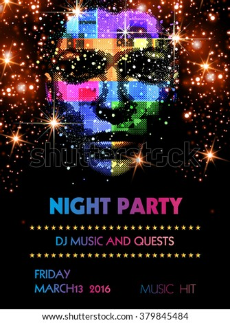 Party cover Template easy all editable - stock vector