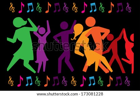 party design over black background vector illustration  - stock vector