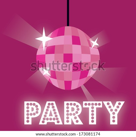 party design over purple  background vector illustration  - stock vector