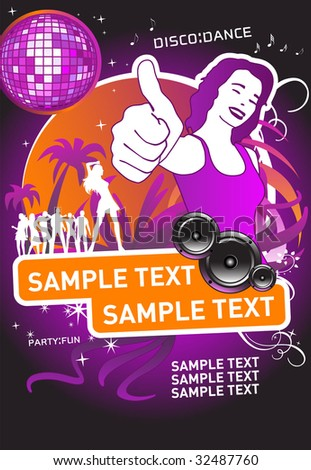 Party Design. Vector. For more images VISIT MY GALLERY. - stock vector