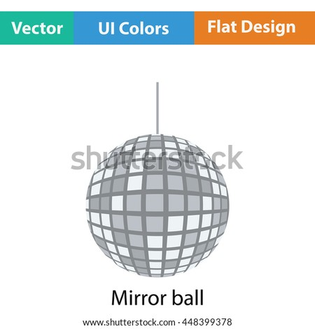 Party disco sphere icon. Flat color design. Vector illustration.