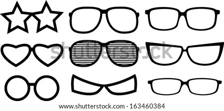 Party eye glasses. Vector Illustration - stock vector