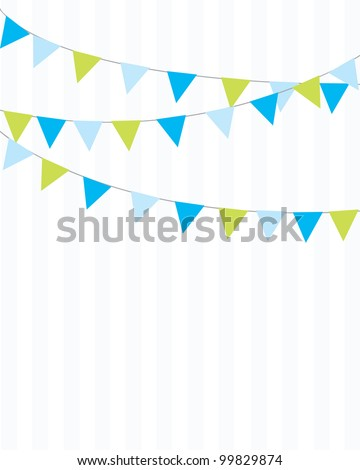 Party Flags Background - stock vector