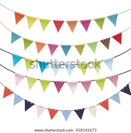 Party Flags Set Vector Illustration EPS10