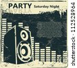 Party flyer - stock vector