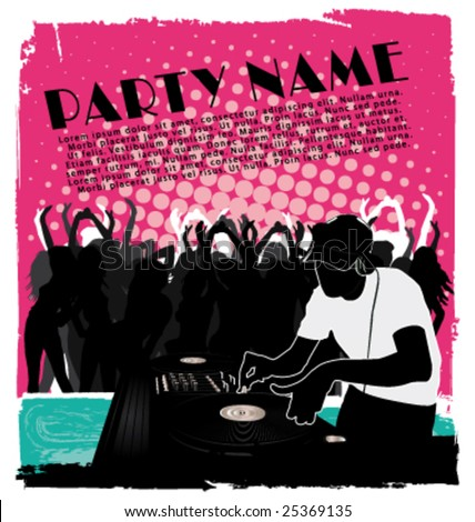 Party flyer 2 - stock vector