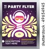 Party flyer design. Vector illustration. - stock vector