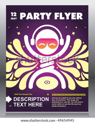 Party flyer design. Vector illustration. - stock vector