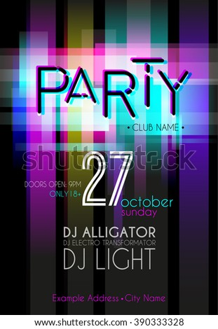 Party Flyer. Nightclub Flyer.  - stock vector