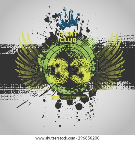 Party Flyer Template. Vector Design. Abstract Grunge Background.  Abstract vector grunge background poster for party. Grunge banner with an inky dribble strip with copy space. - stock vector