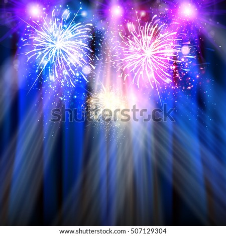 Party, happy New Year celebration template easy all editable