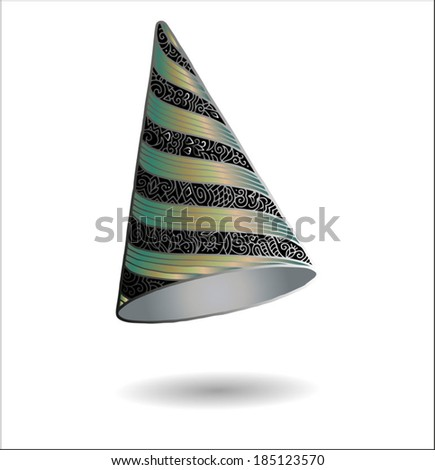 Party hat, graphic style, hand-drawn artwork, vector illustration