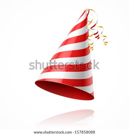 Party hat. Vector. - stock vector