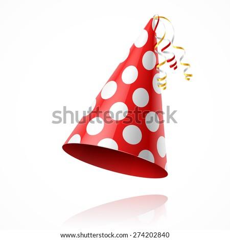 Party hat. Vector. - stock vector