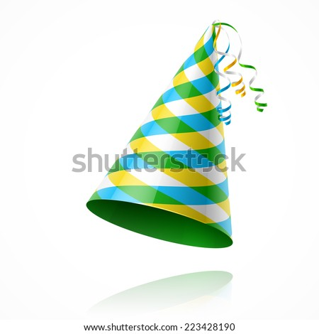Party hat. Vector illustration. - stock vector