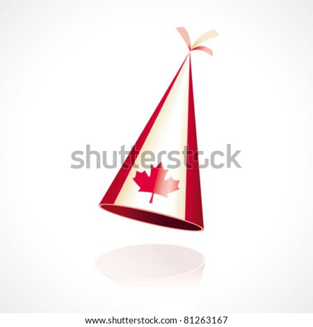 Party hat with the flag of Canada - stock vector