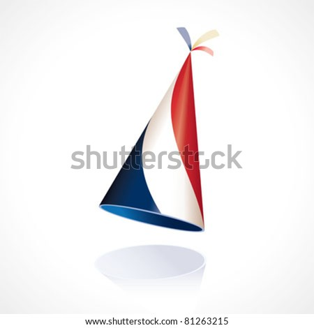 Party hat with the flag of France - stock vector