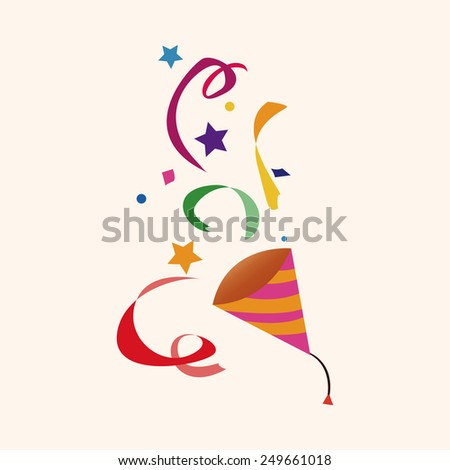 party horn theme elements vector,eps - stock vector