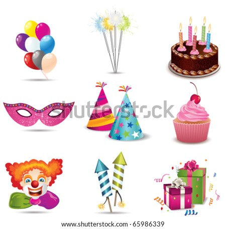 Party icon - stock vector