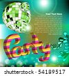 party invitation card - stock vector