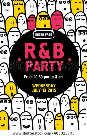 Party Invitation Flyer Design Template Vector Stock Vector