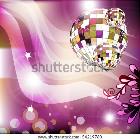 Party invitation layout for text - stock vector