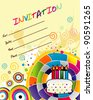 party invitation vector - stock vector