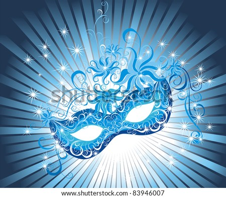 Party Mask - stock vector