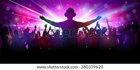 Party people in club - stock vector