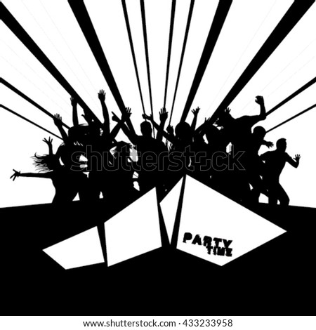 Party People Silhouettes design - stock vector