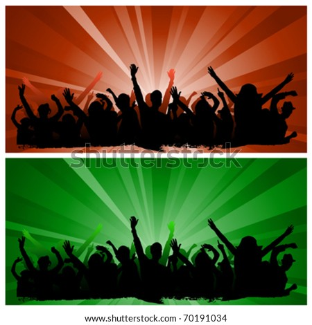 party people vector - stock vector