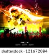 Party people. Vector background - stock vector