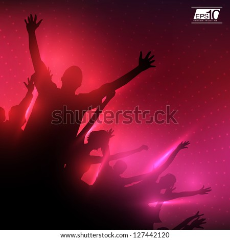 Party People Vector Background | EPS10 Editable Design - stock vector