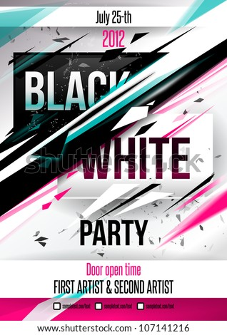 Party Poster Template Vector Stock Vector 107141216 - Shutterstock