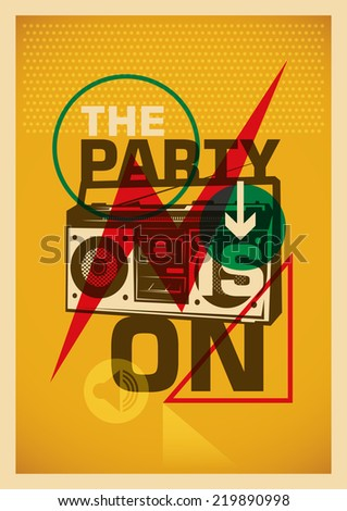 Party poster with colorful abstract design. Vector illustration. - stock vector