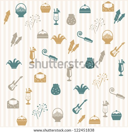 Party seamless pattern - stock vector