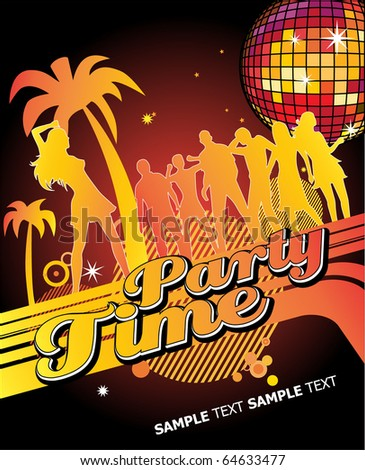 Party Time. Editable Vector Format - stock vector