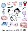 Party!!! Vector doodle set - stock vector