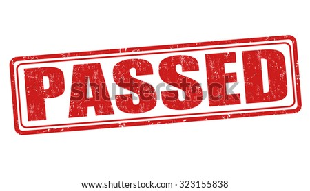 Passed grunge rubber stamp on white background, vector illustration - stock vector