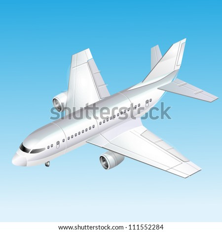 Passenger plane vector illustration - stock vector